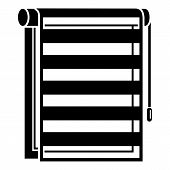 Paper Window Blind Icon. Simple Illustration Of Paper Window Blind Vector Icon For Web Design Isolat poster