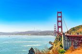 Panorama On San Francisco And The Gold Gate Bridge. poster