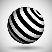 Optical Illusion Lines Background. Abstract 3d Black And White Illusions. Conceptual Design Of Optic poster