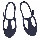 Sandals Flat Illustration. Home, Travel And Lifestyle Series poster