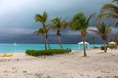 Thunderstorm With Lightning In The Caribbean, Bahamas, Long Island, Bahamas poster