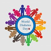 Illustration Of Diabetes Awareness, World Diabetes Day Is Celebrated Globally On November 14 To Rais poster