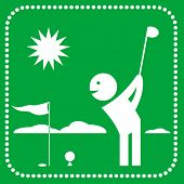 pic of people icon  - golf icon - JPG