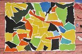 Abstract Colorful Collage. Modern Background. Handmade Collage Without Scissors. Collage Seamless Pa poster
