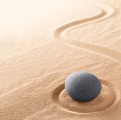 Spa wellness for inner life therapy and spiritual health. Zen meditation stone for relaxation. Conce poster