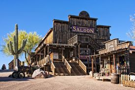 picture of gunfights  - The old saloon at the Goldfield ghost town in Arizona - JPG