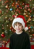 Little Boy At Christmas