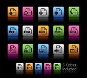 Documents Icons - 1 of 2 // Color Box------It includes 5 color versions for each icon in different l