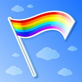 picture of triskele  - Vector isolated and shaded rainbow flag - JPG