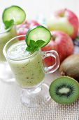picture of fruit shake  - delicious fruity smoothie  - JPG