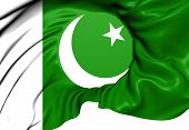 stock photo of pakistani flag  - Flag of Pakistan - JPG