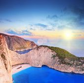 picture of shipwreck  - Panoramic view of Zakynthos island - JPG