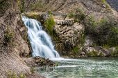 pic of novosibirsk  - The waterfall near Belovo village in Novosibirsk region  - JPG