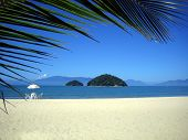 pic of tropical island  - a beach scene from a very beautiful beach from brazil - JPG