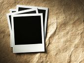 picture of polaroid  - polaroid style photo frames on cardboard - JPG