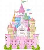 stock photo of fairy  - Fairy Tale magic Princess Castle   - JPG