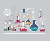 stock photo of chemistry  - Chemistry infographic - JPG