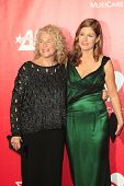 LOS ANGELES - JAN 24:  Carole King, Louise Griffin at the 2014 MusiCares Person of the Year Gala in