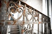 An Old Rusty Wrought-iron Railing