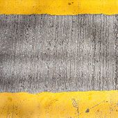Yellow Road Marking Lines Pictured From Above