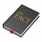stock photo of illiteracy  - The fact book image with hi - JPG
