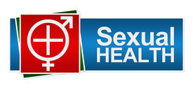 stock photo of std  - Sexual Health Symbol in White with Medical Cross and Male female symbol - JPG