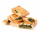 stock photo of patty-cake  - Puff pastry bun isolated on white background - JPG