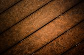 stock photo of wainscoting  - Dark abstract ooden panel texture or background - JPG