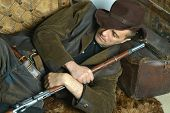 picture of bandit  - Bandit with gun in the wild west - JPG