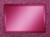 foto of bronze silver gold platinum  - Pink colored metallic plate on a pink metallic background - JPG