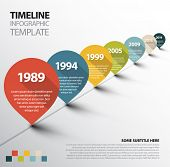 stock photo of past future  - Vector Infographic Timeline Template with retro pointers - JPG