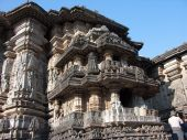 pic of belur  - Detailed carvings on the inner walls of the temple at Belur in Karnataka - JPG