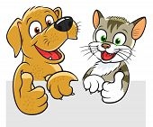 pic of petting  - Cartoon pets decoration for any banner or design - JPG