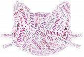 foto of kitty  - Word cloud illustration funny cat related - JPG