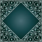 image of precious stone  - illustration background frame with ornaments of precious stones - JPG