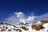 pic of taurus  - Snowy rocks at nice day - JPG
