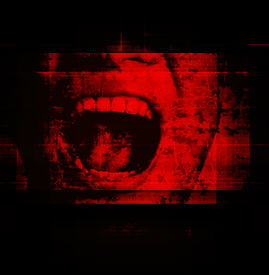 pic of horror  - Human Screaming As Horror Background For Movies Poster Project - JPG