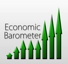 stock photo of barometer  - Graph illustration showing Economic Barometer growth - JPG