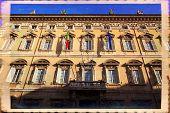 picture of senators  - Rome Madama palace home of the Senate of the Italian Republic - JPG