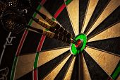 picture of throw up  - Success hitting target aim goal achievement concept background  - JPG