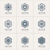 picture of mehendi  - Ornamental logo template set - JPG
