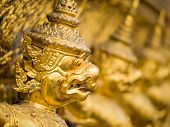 stock photo of garuda  - Grand palace Garuda Wat Phra Kaew Bangkok Thailand - JPG