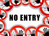 pic of no entry  - illustration of no entry sign concept background - JPG
