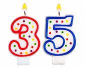 Постер, плакат: Birthday Candles Number Thirty Five