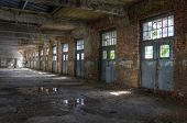 picture of old post office  - Big old hall in an abandoned post office - JPG