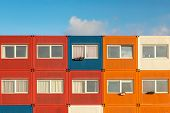 picture of containers  - Sevaral container houses in red - JPG
