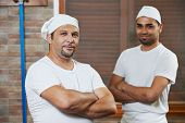 pic of pastry chef  - chef baker and pizza cook in uniform at pizzeria restaurant kitchen - JPG