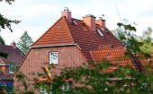 picture of shingles  - The house with the roof of shingles - JPG
