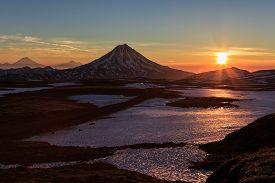 pic of magma  - Beautiful volcanic landscape of Kamchatka - JPG