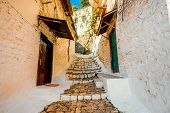 picture of albania  - Street view in Berat city - JPG
